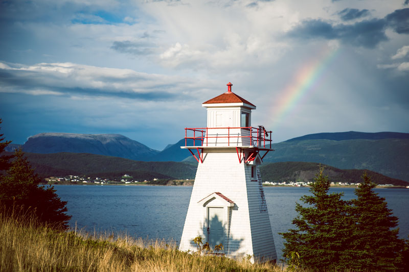 What if all lighthouses used rainbows for their beacon?